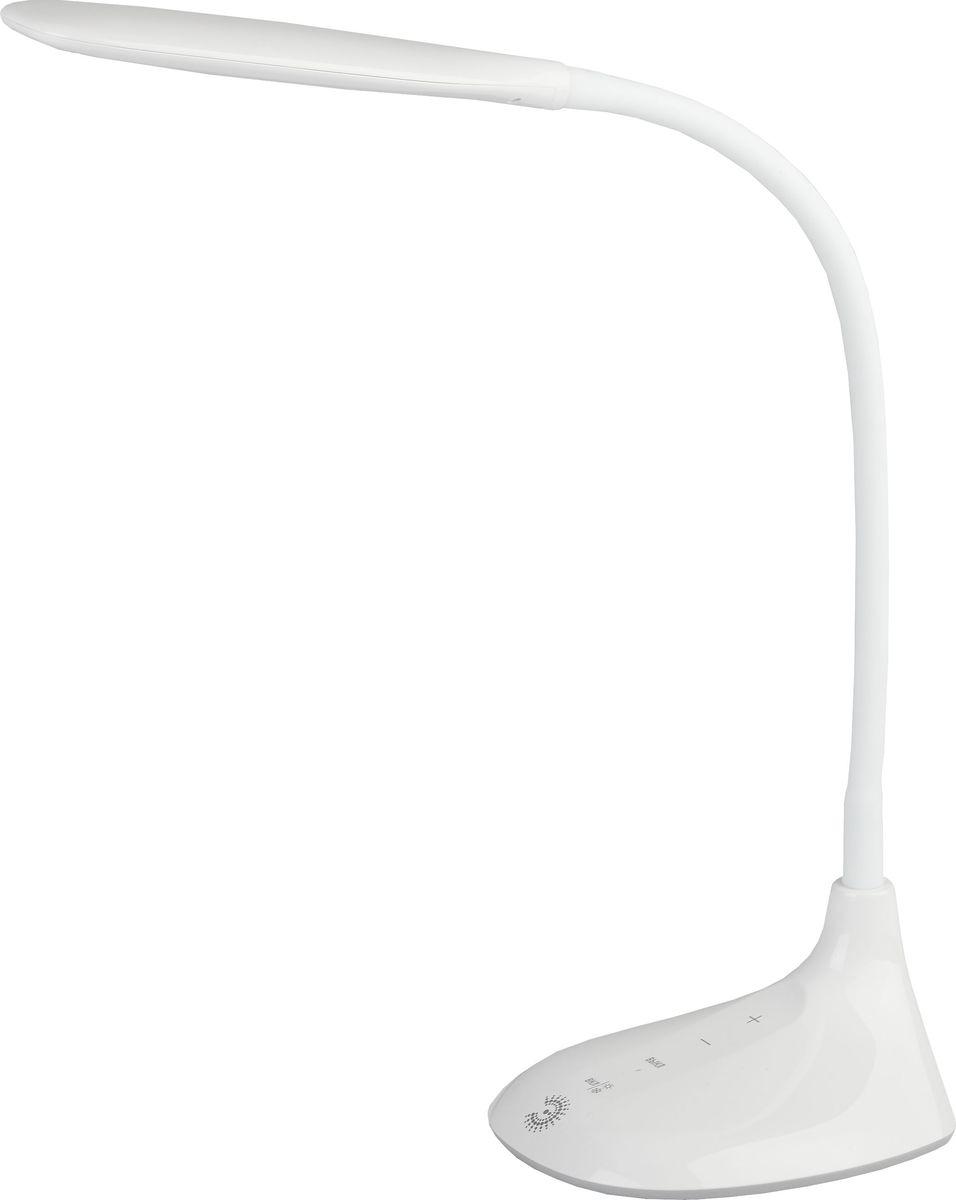 Настольный светильник ЭРА, цвет: белый. NLED-452-9W-WNLED-452-9W-WСветильник со светодиодами (LED) в качестве источников света, которые экономят до 90% электроэнергии и не требуют замены на протяжении всего срока службы светильника. Сенсорный переключатель на основании. Выбор цветовой температуры - 3 цвета: 3000К, 4500К, 6000К. Пятиступенчатый диммер для регулировки яркости. Гибкая стойка.