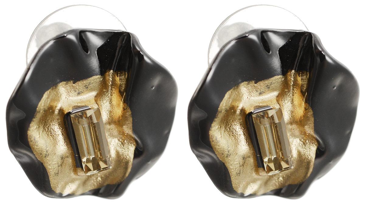 Серьги-пусеты Паола. Бижутерное стекло, гипоаллергенный бижутерный сплав графитового и золотого тона. Krikos, Китай26272-581Серьги-пусеты Паола. Бижутерное стекло, гипоаллергенный бижутерный сплав графитового и золотого тона. Krikos, Китай. Размер - диаметр 1,5 см.