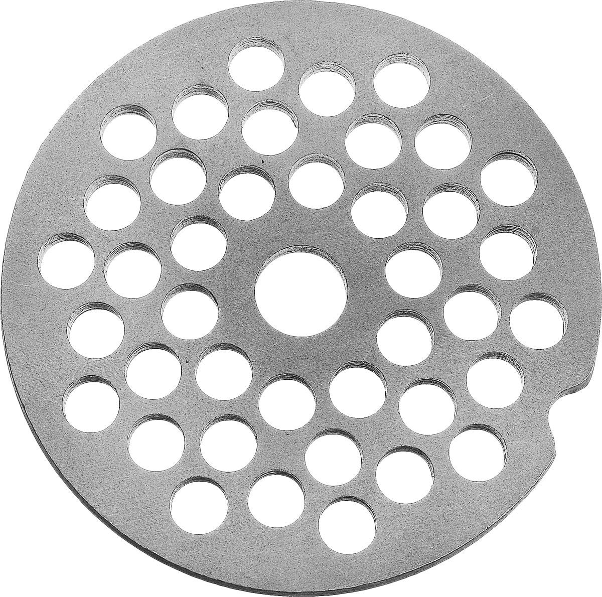 Аксион 21 327 585 решетка для мясорубки4607159821188Универсальная решетка Аксион 21 327 585 предназначена для работы с электрическими и ручными мясорубками. Она с легкостью заменит фирменную деталь, не уступив ей по качеству и сроку службы. Диаметр отверстий в решетке: 5 мм