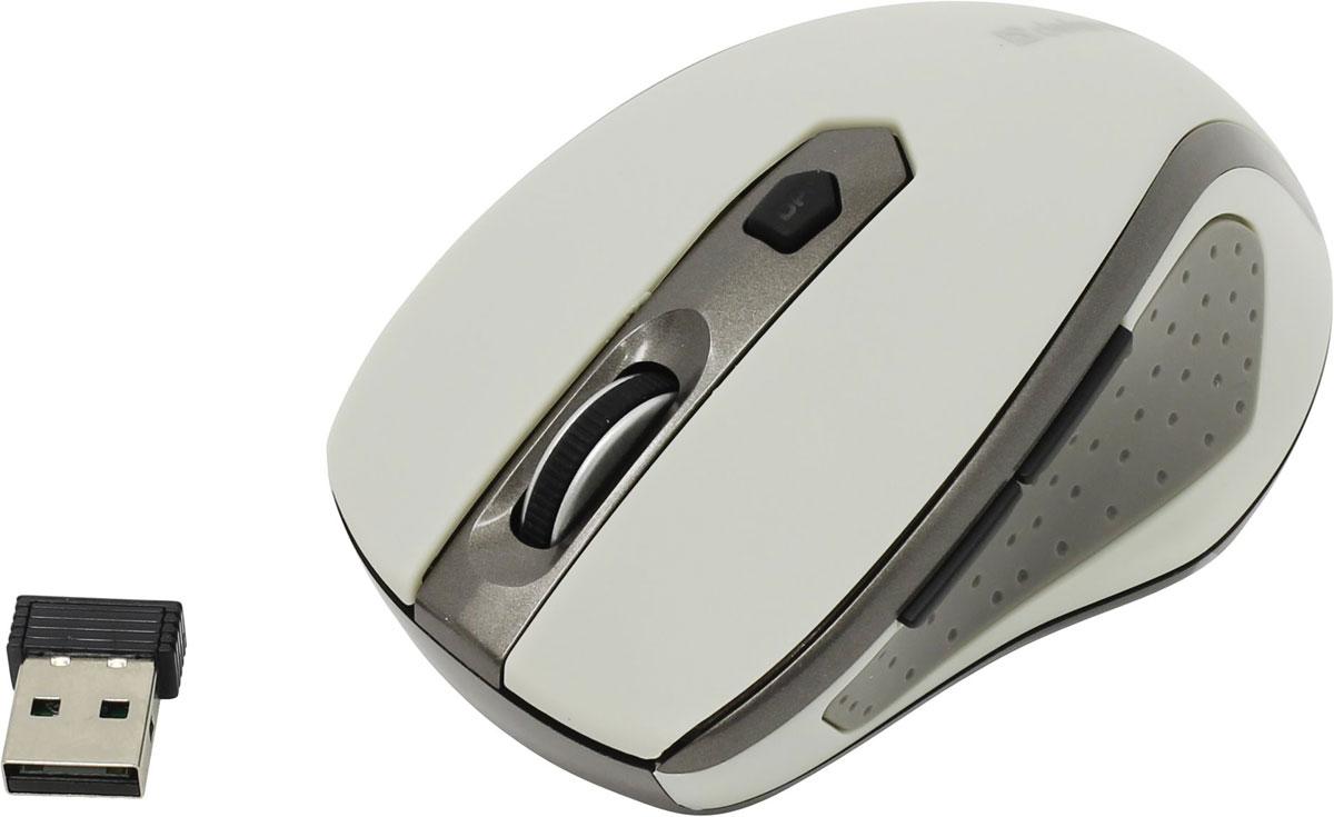 Defender Safari MM-675 Nano, Beige беспроводная мышь52677Беспроводная мышь Defender Safari MM-675 Nano Stone с эргономичным дизайном для удобства работы. Технология оптического типа сенсора позволяет легко работать даже на тех поверхностях, на которых работа обычной оптической мыши затруднена. Миниатюрный наноприемник можно не вынимать из USB-порта ноутбука, он не потеряется и не сломается. Нажатие на джойстик позволяет переключать разрешение мыши одним движением (800/1200/1600 dpi). Это удобно, если, к примеру, надо перейти от интернет-серфинга к обработке фотографий, где от мыши требуется более точная работа курсора. Радиус действия 8 метров. Увеличенный радиус действия беспроводной связи обеспечивает большую свободу действий и отличное качество связи. Мышь можно использовать для презентаций или управления медиаприложениями на расстоянии. Программное обеспечение Defender Quick Point позволяет программировать кнопки под требуемые задачи в офисных, мультимедийных и интернет-приложениях. Интерфейс: USB ...