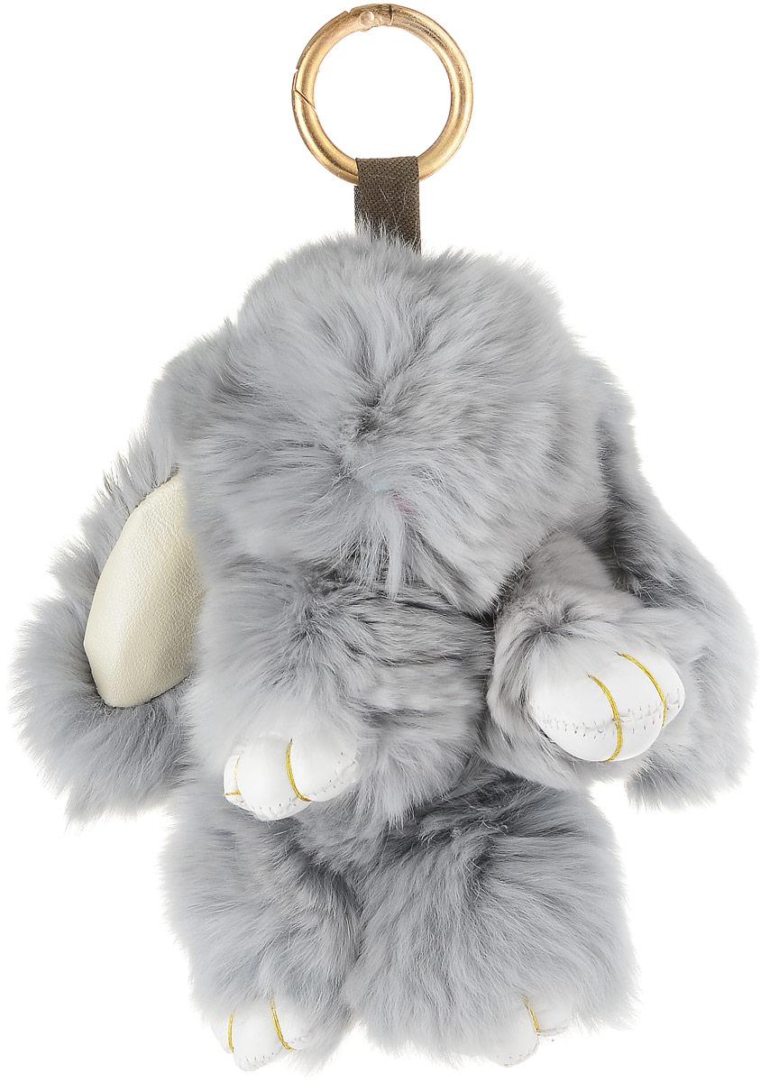 Брелок женский Mitya Veselkov, цвет: серый. BRELOK-KROLIK-GREYBRELOK-KROLIK-GREYНевероятно милый аксессуар брелок кролик от известного бренда Mitya Veselkov. Изделие изготовлено из искусственного меха и дополнено металлическим креплением. Брелок кролик предназначен для ношения на сумке, рюкзаке, клатче, кошельке, ключах. Модель может украсить автомобиль или просто радовать в качестве игрушки. Брелок такой мягкий и приятный на ощупь, что его не хочется выпускать из рук.