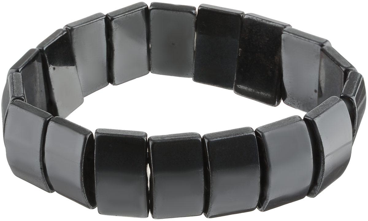 Браслет Револю Клеопатра, цвет: черный. бНГМ-2(17-10)-1бНГМ-2(17-10)-1Ширина браслета: 17 мм. О, это украшение выглядит так, словно его покрывает напыление из чёрного металла! Между тем, это камень, и притом очень очаровательный и эффектный - это гематит! Необыкновенный вид этого интересного камня каждому украшению придаёт оригинальное звучание, но эта вещица по-особенному заманчива!