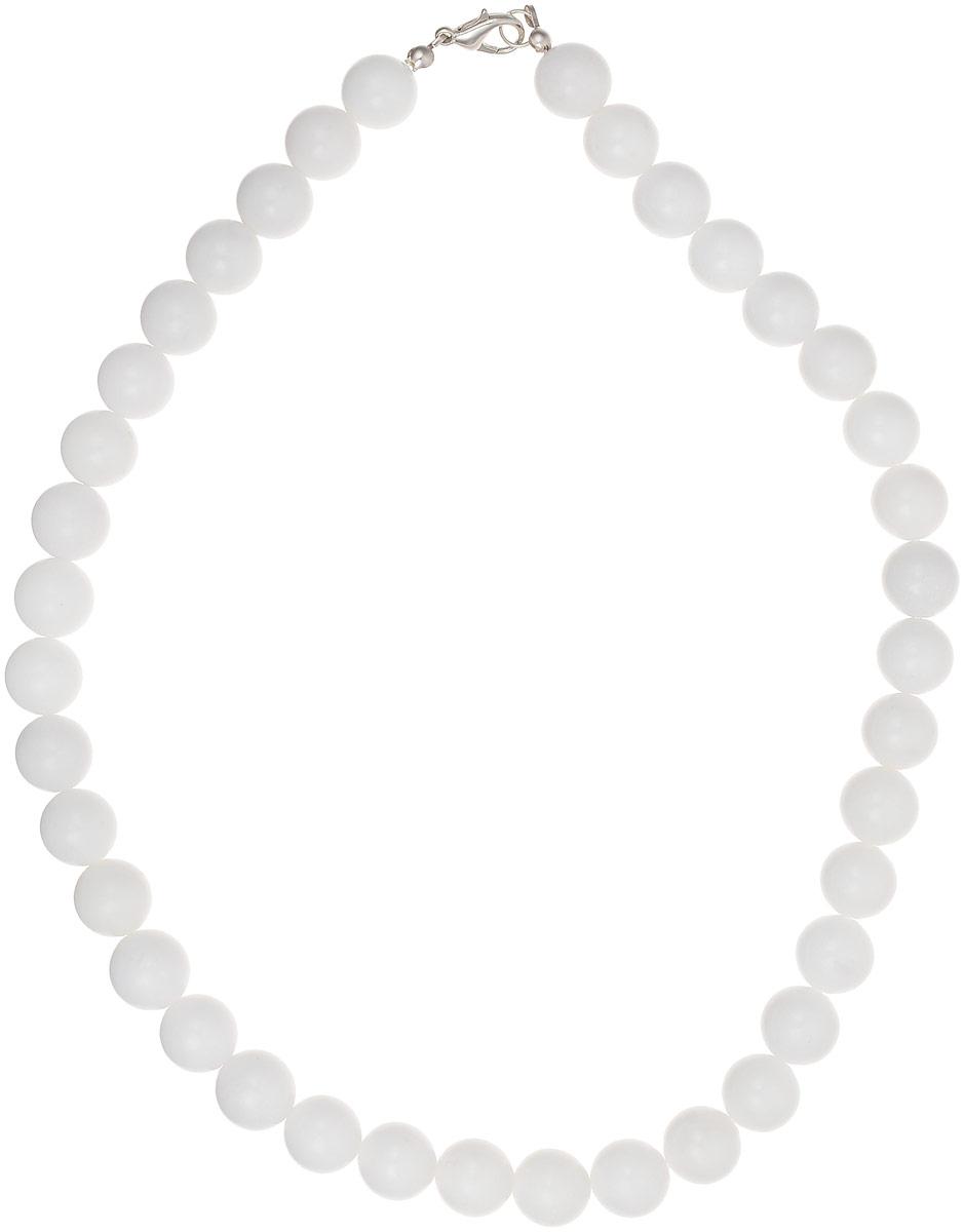 Бусы Револю Классика № 12, цвет: белый. НКХ-1(12)-45-1НКХ-1(12)-45-1Снежный кахолонг - любимец женщин всего Востока! Он почитается одним из счастливых талисманов, но в нём есть и ещё одно свойство - он потрясающе смотрится в ювелирных украшениях! Чистый и нежный, прекрасный кахолонг наполняет образ свежестью и чистотой вечной молодости!
