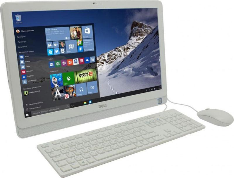 Dell Inspiron 3264-7973, White моноблок3264-7973Моноблок Dell Inspiron 3264 отличается дисплеем с диагональю 21,5 дюйма, широкими углами обзора и разрешением Full HD, встроенными динамиками и веб-камерой, адаптивной производительностью и привлекательным тонким корпусом. Это удобный настольный компьютер все в одном, который станет отличной покупкой для всей семьи. Приковывает взгляды. Смотрите фильмы, учитесь и играйте на большом дисплее с разрешением Full HD с широкими углами обзора. Простота установки сразу после распаковки. Откидная подставка и конструкция, предусматривающая использование всего одного кабеля, позволяют быстро и легко разместить компьютер в любом помещении. Черный корпус компьютера Dell Inspiron 3264 с невероятно тонкой панелью и выполненные в едином стиле с корпусом клавиатура и мышь прекрасно дополнят любой интерьер. Полное погружение в события на экране. Оцените совершенно новый уровень фильмов и игр благодаря новейшим процессорам Intel. Мощный графический...