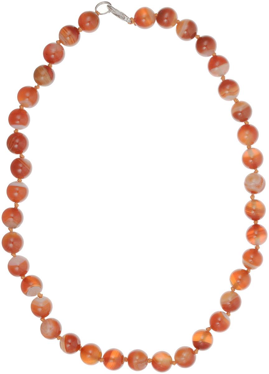 Бусы Револю Классика № 10, цвет: оранжевый. НСР-1(10)-46-3уНСР-1(10)-46-3уСолнечный сердолик выглядит так притягательно и радостно! Каждое сердоликовое украшение дарит сердцу веселье, а вам - бесподобную красоту! Чистые и сочные цвета тёплого сердолика придают каждой женщине на редкость очаровательный вид - перед такой прелестью растает снег даже самого холодного мужского сердца!