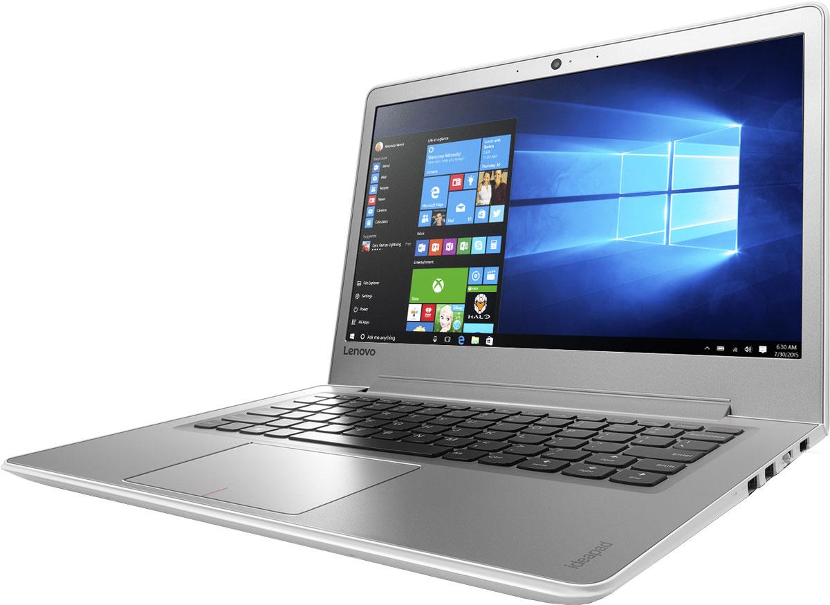 Lenovo IdeaPad 510S-13IKB, White (80V00061RK)80V00061RKТонкий и легкий 13,3-дюймовый ноутбук Lenovo IdeaPad 510S позволяет тебе эффективно работать и развлекаться, где бы ты ни находился. Ультрамобильный мощный ноутбук Lenovo IdeaPad 510S отлично подойдет для работы, развлечений и игр в поездках. IdeaPad 510S на 20 процентов тоньше и на 30 процентов легче большинства ноутбуков в своем классе. Высокопроизводительный, многофункциональный процессор Intel Core i5-7200U со встроенными функциями обеспечения безопасности открывает качественно новые возможности для работы, творчества и развлечений. Разбуди свою фантазию и раздвинь границы возможного при помощи ОС Windows 10, дополненной процессором Intel Core седьмого поколения и дискретной видеокартой AMD Radeon R5 M430. Два стереофонических динамика Harman Audio обеспечивают отличный звук при просмотре фильмов и прослушивании музыки. Если нужно расслабиться - просто включи и наслаждайся звуком. До трех раз более высокая (по сравнению с...