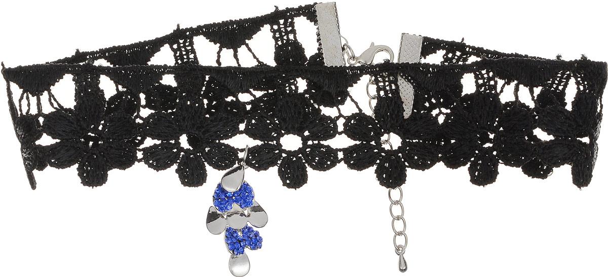 Чокер Револю Мулен Руж, цвет: синий. п7993п7993Длина: 33 см и удлиняющая цепочка 5 см. Ширина: 3,0 см. Размер подвески: 1,5 х 3,5 мм. Нарядные стразы из лучшего хрусталя - отличная замена всем на свете натуральным камням! Стразы стоят недорого, но позволяют вам сиять, словно богиня - и собрать значительную коллекцию украшений за те же деньги, что вы потратили бы на бриллианты! Каждый день царица, каждый день знаменитость - стоит только надеть эту блистательную вещицу со стразами!