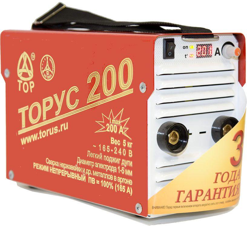 Инвертор сварочный Торус Классик 200, с проводами 95566019