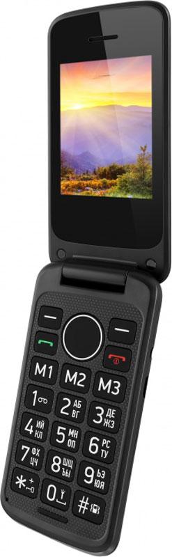 Vertex C308, BlackC308-BLМобильный телефон Vertex C308 - удобный и доступный телефон в раскладывающемся корпусе для ежедневного использования. Увеличенные клавиши и яркий дисплей делают использование телефона комфортным для пожилых людей и людей с пониженным зрением. Предусмотрены кнопки памяти для экстренных номеров и кнопка SOS на задней панели. Для быстрого доступа к нужным номерам предусмотрена функция быстрого набора. Модель C308 оснащена большим и ярким экраном для более удобного набора номеров, смс-сообщений, а также просмотра фото и видео-файлов. Громкий динамик обеспечивает комфорт в общении. Одновременная работа двух SIM-карт позволяет просто и удобно совместить личный и рабочий номер в одном телефоне. Телефон сертифицирован EAC и имеет русифицированную клавиатуру, меню и Руководство пользователя.