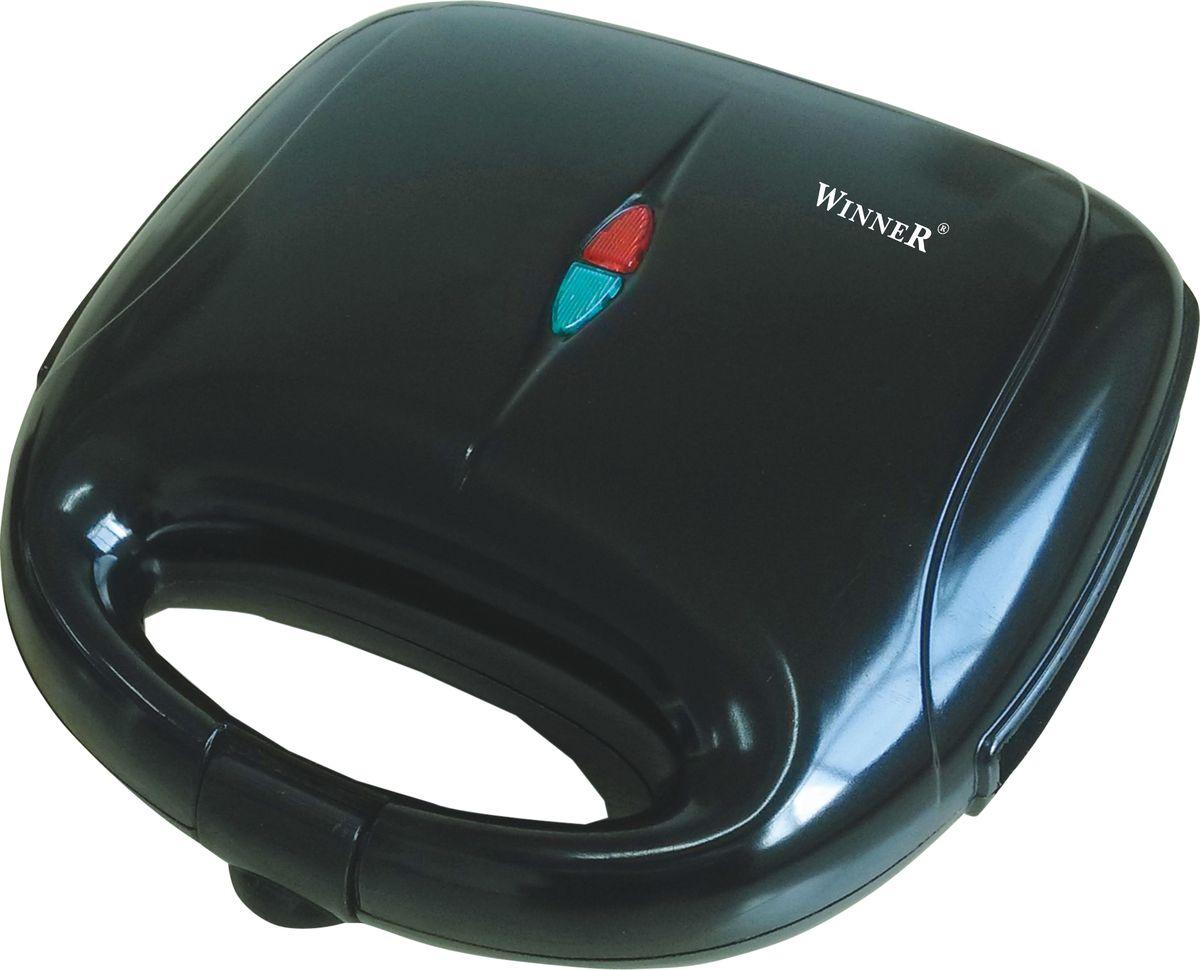 Winner Electronics WR-361 вафельницаWR-361Электровафельница: питание: 220-240V, 50/60Hz, мощность:750W, антипригарное покрытие, не нагревающийся корпус, двойной контроль безопасности, индикатор питания. индикатор готовности, удобная не нагревающаяся ручка.