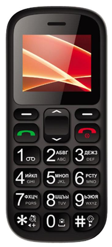Vertex C305, BlackC305-BLVertex C305 - доступный и практичный телефон с док-станцией. Яркий цветной дисплей с высокой контрастностью и простой интерфейс - все для удобства использования. Кнопки с крупными цифрами облегчат набор номера. Идеален для людей с пониженным зрением и пожилых людей. Функция быстрого набора номера для быстрой связи с близкими. Отдельная клавиша SOS на задней панели телефона предусмотрена для экстренных случаев. В комплекте есть док-станция для комфортного хранения телефона дома, а также для удобства подзарядки. Встроенный фонарик послужит хорошим помощником в темноте. Одновременная работа двух SIM-карт позволяет просто и удобно быть на связи сразу по двум номерам. Телефон сертифицирован EAC и имеет русифицированную клавиатуру, меню и Руководство пользователя.