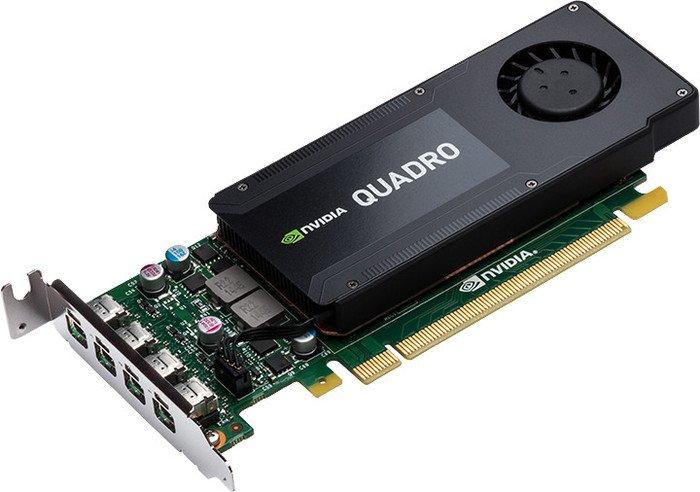 PNY NVIDIA Quadro K1200 4GB видеокартаRVCQK1200DVI-PBПроф видеокарта 4Gb PNY nVidia Quadro K1200 <GDDR5, 128 bit, 4*mDP, Low Profile, SFF, 4*mDP to DP, 4*mDP to DVI-D adapter cables, ATX bracket