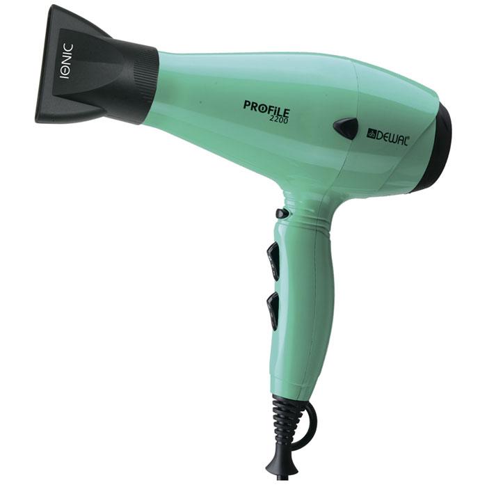 Dewal Profile 2200 фен03-120 AquaПрофессиональный фен DEWAL Profile-2200 03-120 Aqua – обладает маневренностью и большой мощностью и поэтому идеально подходит для работы в салоне. Благодаря универсальному размеру фен подходит как для женской, так и для мужской руки. Ручка фена немного отклонена назад, что улучшает эргономику при работе. Сопла скошенной формы существенно увеличивают скорость воздушного потока, а также помогают сделать процесс укладки брашингом более комфортным. Воздушный фильтр легко снимается и ухаживать за мотором фена не составит труда. Яркий цвет аквамарин подарит Вам невозможно хорошее настроение. Преимущества фенов DEWAL: Мощный мотор – до 8 часов непрерывной работы; Высокая скорость воздушного потока. Корпус фена разработан с учетом оптимизации расхода воздуха; Защита от перегрева Stop-heat. Защитный механизм на нагревательном элементе фена охлаждает корпус, сохраняет мотор, защищая его от перегрева а также поддерживает оптимальную температуру для волос; Яркие цвета фенов DEWAL...