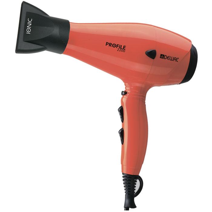 Dewal Profile 2200 фен03-120 OrangeПрофессиональный фен DEWAL Profile-2200 03-120 Orange – обладает маневренностью и большой мощностью и поэтому идеально подходит для работы в салоне. Благодаря универсальному размеру фен подходит как для женской, так и для мужской руки. Ручка фена немного отклонена назад, что улучшает эргономику при работе. Сопла скошенной формы существенно увеличивают скорость воздушного потока, а также помогают сделать процесс укладки брашингом более комфортным. Воздушный фильтр легко снимается и ухаживать за мотором фена не составит труда. Яркий оранжевый цвет подарит Вам невозможно хорошее настроение. Преимущества фенов DEWAL: Мощный мотор – до 8 часов непрерывной работы; Высокая скорость воздушного потока. Корпус фена разработан с учетом оптимизации расхода воздуха; Защита от перегрева Stop-heat. Защитный механизм на нагревательном элементе фена охлаждает корпус, сохраняет мотор, защищая его от перегрева а также поддерживает оптимальную температуру для волос; Яркие цвета фенов DEWAL...
