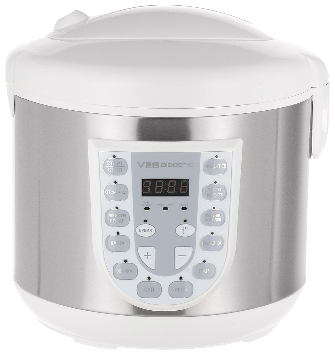 Ves SK-A13-W мультиваркаSK-A13-WМультиварка Ves SK-A13-W имеет 11 программ приготовления различных блюд. Модель оснащена светодиодным LED дисплеем. Комплектуется чашей со специальным угольным покрытием. Подходит для приготовления диетического питания. Прибор имеет возможность ручной настройки времени (до 12 часов) и температуры приготовления (от 35 до 160°C). Ручные настройки в сочетании с вашим опытом помогут добиться наиточнейшего выполнения рецептов и создания новых. Отсрочка старта: до 16 ч
