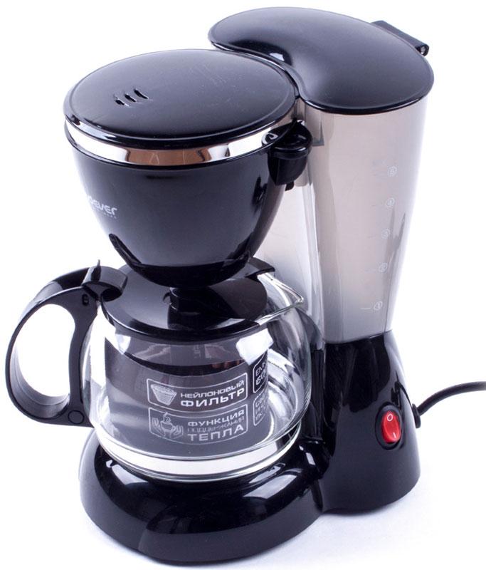 Endever Costa-1041, Black кофеваркаCosta-1041Kофеварка капельного типа Endever Costa-1041 оснащена функцией автоподогрева готового кофе, поворотным держателем фильтра, противокапельной системой - защитный механизм, который не позволяет кофе капать на поддон при отсутствии стеклянного кувшина. Конструктивно капельная кофеварка состоит из стеклянной колбы или кувшина со шкалой на стенке и подогреваемой подставки. Съёмный моющийся нейлоновый фильтр обеспечит долговременное использование прибора.