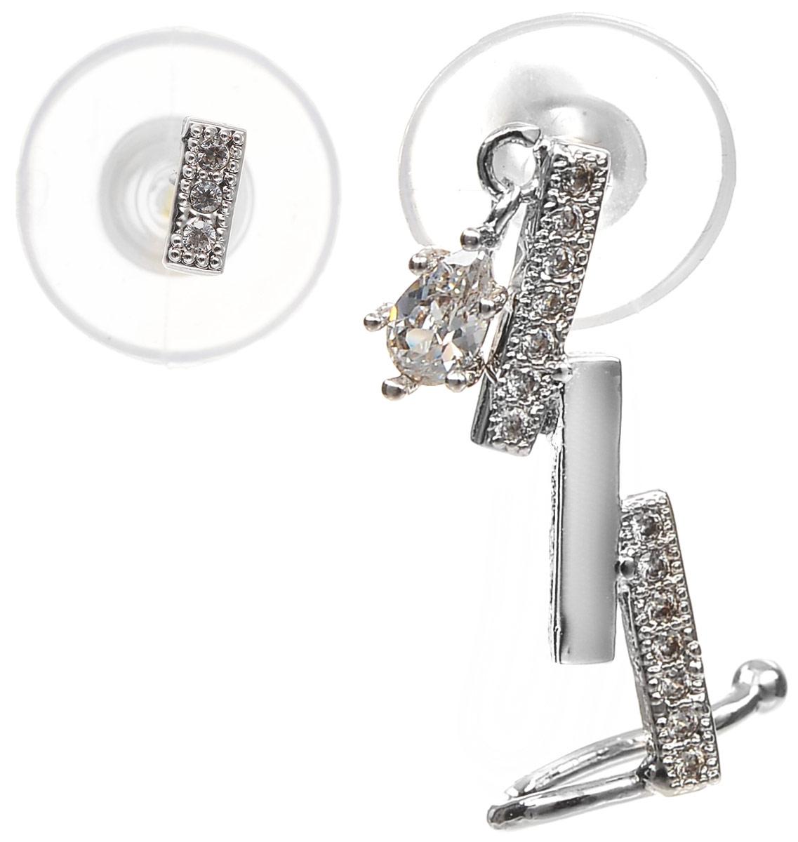 Серьги Art-Silver, цвет: серебряный. СРГ181-386СРГ181-386Стильные серьги Selena выполнены из латуни с гальваническим покрытием. Серьги оформлены оригинальными декоративными вставками. Такие серьги будут ярким дополнением вашего образа.