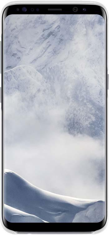 Samsung Clear Cover чехол для Galaxy S8, SilverEF-QG950CSEGRUОригинальный чехол обеспечит надежную защиту задней крышке и торцам устройства. Не сильно увеличивает размеры смартфона. Оснащен необходимыми отверстиями под порты и камеру.