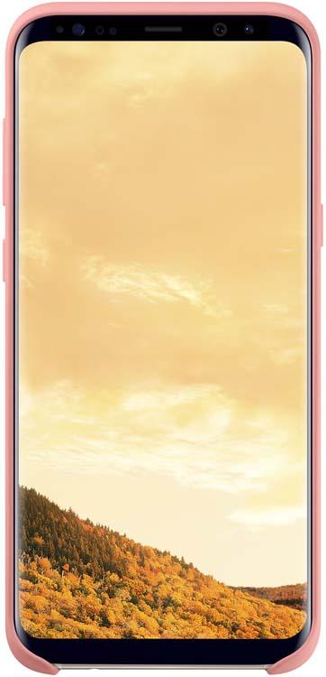 Samsung Silicone Cover чехол для Galaxy S8, PinkEF-PG950TPEGRUЭластичный и прочный чехол, выполненный из силикона. Легкий и тонкий, он практически не изменяет размеры телефона, плотно охватывая и надежно удерживая его внутри. Отверстия идеально совпадают с разъемами и элементами управления. Таким образом, предотвращается преждевременный износ смартфона, а пользователю обеспечивается максимальный комфорт.