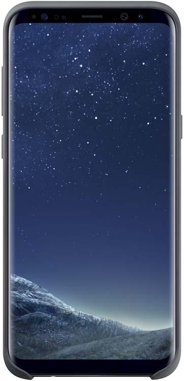 Samsung Silicone Cover чехол для Galaxy S8+, Dark GrayEF-PG955TSEGRUЭластичный и прочный чехол, выполненный из силикона. Легкий и тонкий, он практически не изменяет размеры телефона, плотно охватывая и надежно удерживая его внутри. Отверстия идеально совпадают с разъемами и элементами управления. Таким образом, предотвращается преждевременный износ смартфона, а пользователю обеспечивается максимальный комфорт.