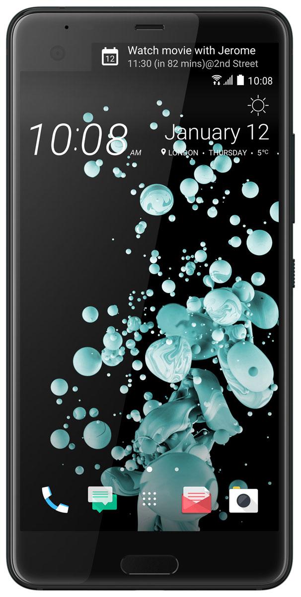 HTC U Ultra 128GB, Brilliant Black99HALU052-00HTC U Ultra - смартфон с большим экраном 5,7 станет яркой частью вашей жизни. Его уникальный переливающийся дизайн создан, чтобы дать свободу самовыражения. Его инновационный двойной экран ставит ваши приоритеты и удобство во главу угла. При изготовлении корпуса используется особый процесс формовки стекла по краям устройства с применением экстремального давления и высокой температуры. Это не только создает идеальную гармонию стеклянной и металлической поверхностей, но и имитирует эффект поверхностного натяжения, свойственный жидкости. HTC Sense Companion - верный спутник, который постоянно обучается вашим привычкам и действиям, которые вы совершаете каждый день. Он может посоветовать одеться потеплее и выехать на работу чуть раньше, если прогноз погоды указывает на возможность снегопада; он напомнит взять с собой внешний аккумулятор, если в ваших планах значится длительная поездка; он подскажет отличный ресторан в незнакомом городе и поможет забронировать столик. Но...