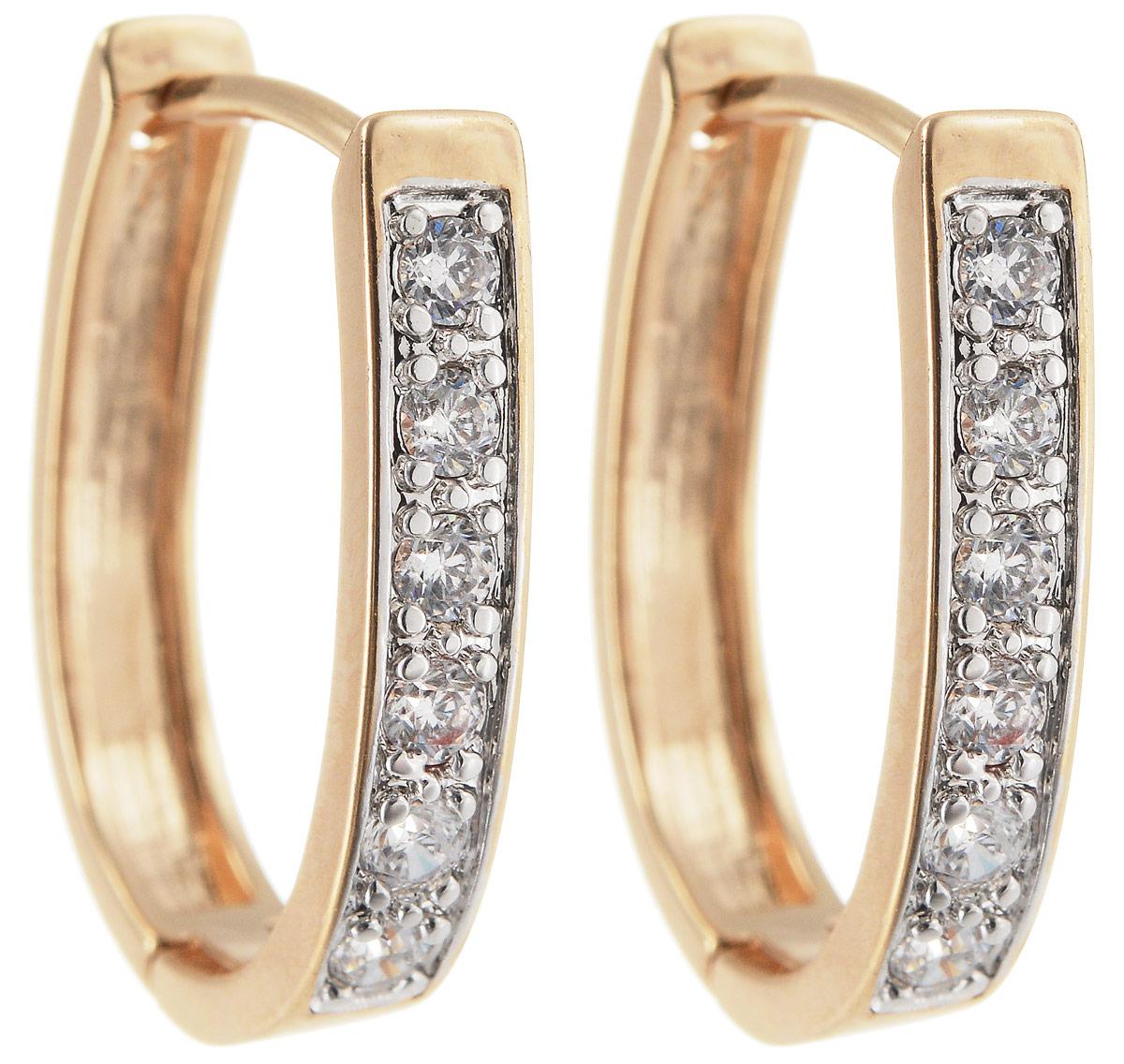 Серьги Taya, цвет: золотистый. T-B-11989T-B-11989-EARR-GOLDМодные позолоченные серьги Taya имеют французскую застежку омега. Модель оформлена вставками из сверкающих страз.
