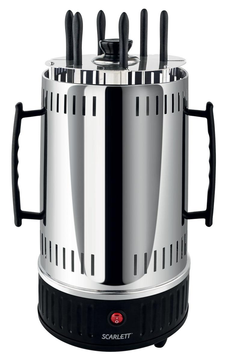 Scarlett SC-KG22601, Black электрошашлычницаSC-KG22601Шашлычница электрическая круглая 1000 вт, без таймера