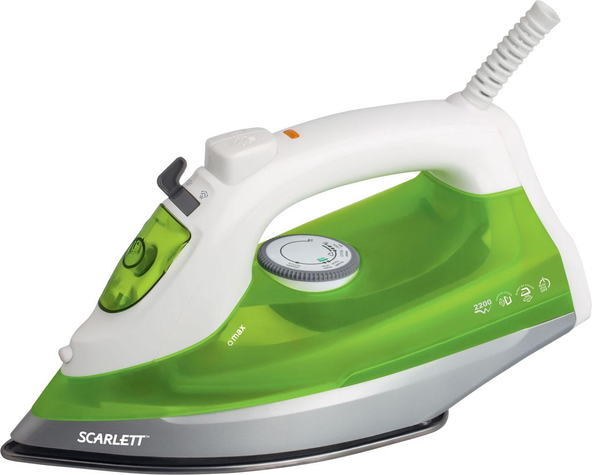 Scarlett SC-SI30S04, Green утюгSC-SI30S04Утюг Scarlett SC-SI30S04 приятно порадует легким скольжением и увеличенным количеством паровых отверстий. Это позволяет быстро и максимально аккуратно проглаживать различные виды ткани. Данная модель имеет плавную регулировку, позволяющую эффективно справляться с деликатной одеждой. Предусматривается вместительный резервуар для воды на 350 мл. Подошва из нержавеющей стали быстро нагревается и не требует сложного ухода. Она оснащена удобным желобком для пуговиц, а также системой самоочистки, дополнительно защищающей от образования царапин.