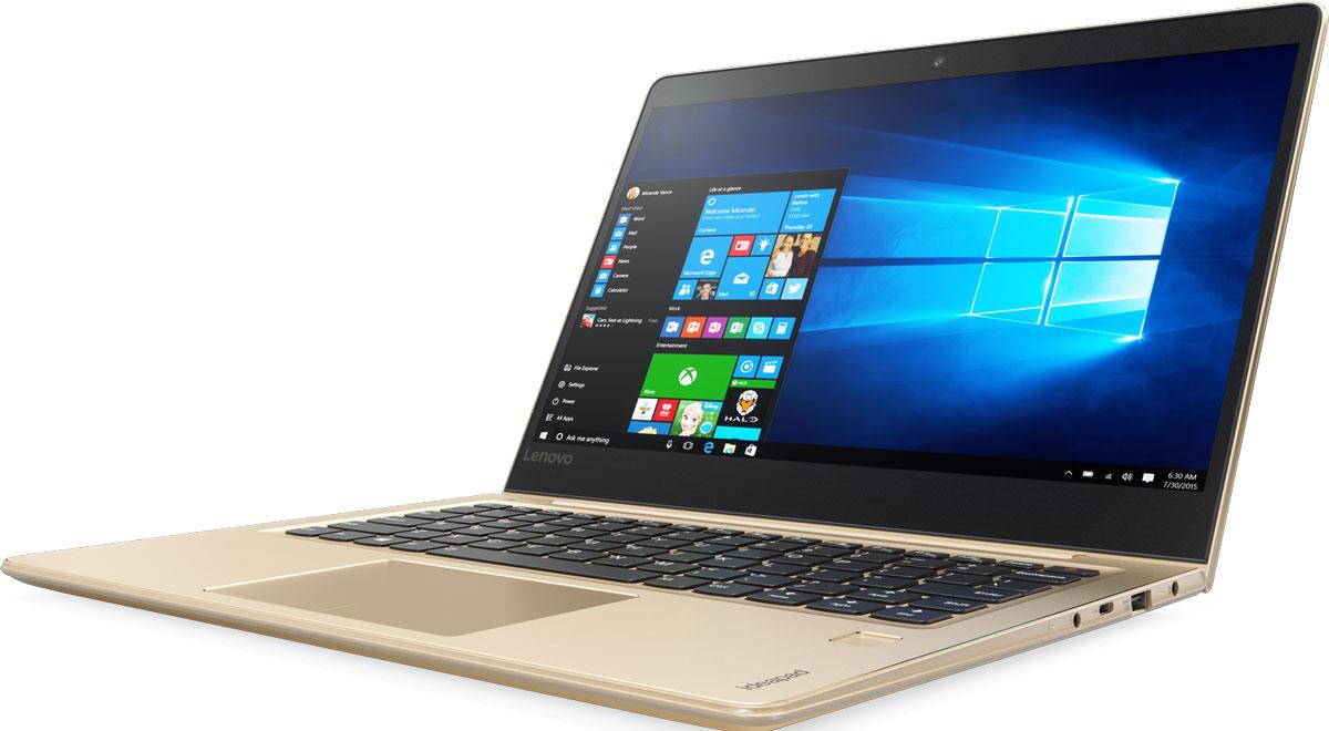 Lenovo IdeaPad 710S-13ISK Plus, Gold (80VU0032RK)80VU0032RKЕсли ты ищешь ноутбук с эффектным дизайном и высоким уровнем производительности, IdeaPad 710s Plus отлично тебе подойдет. Тонкий и легкий, этот 13,3-дюймовый ноутбук отличается мощным процессором, дисплеем высокого разрешения и поддержкой высокопроизводительных твердотельных накопителей. Он также оснащен сканером отпечатков пальцев, который позволяет быстро разблокировать устройство и защищает твой ПК от несанкционированного доступа. Процессор Intel Core i5 шестого поколения устанавливает новые стандарты производительности. Высокопроизводительный, многофункциональный процессор со встроенной системой безопасности открывает качественно новые возможности для работы, творчества и 3D-игр. Разбуди свою фантазию и расширь границы возможного с процессором Intel Core шестого поколения и ОС Windows 10. Благодаря узкой рамке 5 мм IdeaPad 710s Plus на 50 % тоньше большинства ноутбуков — эффектный и стильный корпус в сочетании с высочайшим уровнем...