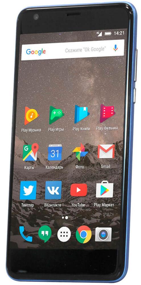 Highscreen Easy XL Pro, Blue23853Highscreen Easy XL Pro - простой и доступный смартфон с большим и ярким экраном, поддержкой 4G/LTE и ГЛОНАСС. Матовый корпус имеет прекрасную эргономику и сбалансированные размеры. Яркий и контрастный 5.5 HD-экран, выполненный по технологии OnCell, обеспечивает естественную цветопередачу и моментальный отклик. Скругленные края (2.5D) помогают легче и быстрее взаимодействовать с ним. Highscreen Easy XL Pro работает на базе чистого Android Marshmallow, компания преднамеренно не ставит дополнительные приложения и игры, чтобы не занимать лишнюю память и дать вам свободу выбора. Ощутите всю прелесть точной навигации, ты сможешь точно определять свое местоположение и быстро прокладывать маршруты из точки A в точку B. Вы сможете управлять домашней техникой благодаря встроенному ИК-порту в твоем Easy XL, просто загрузив специальное приложение из Google Play. Телефон сертифицирован EAC и имеет русифицированный интерфейс меню и...