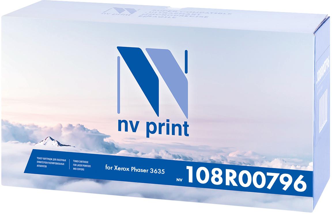 NV Print 108R00796, Black тонер-картридж для Xerox Phaser 3635NV-108R00796Совместимый лазерный картридж NV Print NV-108R00796 для печатающих устройств Xerox - это альтернатива приобретению оригинальных расходных материалов. При этом качество печати остается высоким. Картридж обеспечивает повышенную чёткость чёрного текста и плавность переходов оттенков серого цвета и полутонов, позволяет отображать мельчайшие детали изображения. Лазерные принтеры, копировальные аппараты и МФУ являются более выгодными в печати, чем струйные устройства, так как лазерных картриджей хватает на значительно большее количество отпечатков, чем обычных. Для печати в данном случае используются не чернила, а тонер.