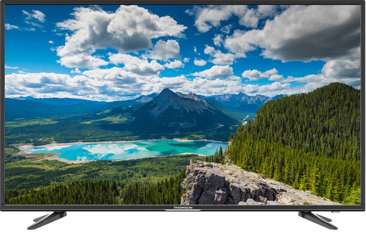 Thomson T49D16SF-02B телевизорT49D16SF-02BТелевизор Thomson T49D16SF-02B с диагональю 49 дюймов оборудован LED подсветкой и поддерживает разрешение Full HD (1920х1080). Оснащен системой динамиков 2.0, выдающих звук общей мощностью 16 Вт. Источником сигнала для качественной реалистичной картинки служат не только цифровые эфирные и кабельные каналы, но и любые записи с внешних носителей, благодаря универсальному встроенному USB медиаплееру. 3 HDMI-порта позволяют подключать современные устройства. Thomson T49D16SF-02B обладает рядом функций, позволяющих добиться наилучшего качества картинки и звука. В их числе шумоподавление. Кроме того, телевизор оснащен удобной функцией TimeShift, благодаря которой при условии подключения к ТВ USB-накопителя, телевизионные трансляции можно ставить на паузу.