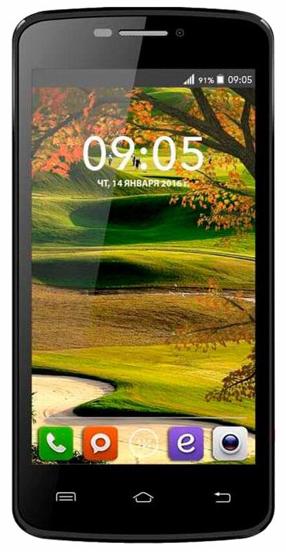 BQ 4560 Golf, Black46610253BQ 4560 Golf - красивый и современный смартфон, удачный баланс между стильным дизайном и качественной начинкой. Дизайнеры BQ Mobile сделали выбор в пользу красоты и разнообразия, изящный корпус с приятным на ощупь покрытием soft touch представлен в черном, золотом, розовом, белом и цвете морской волны. Благодаря правильной конструкции и габаритам, BQ Golf комфортно помещается в руке и позволяет с легкостью пользоваться всеми элементами на экране. Тонкие рамки вокруг дисплея и продуманное расположение элементов делает работу с контентом легкой и удобной. Архитектура процессора обеспечивает уверенную работу всего механизма и моментальную обработку поступающих задач. Производительности четырехъядерного процессора MediaTek МТ6580 хватает, чтобы справиться с ресурсоемкими приложениями, играми и плавным воспроизведением видеороликов. Смартфон сертифицирован EAC и имеет русифицированный интерфейс меню и Руководство пользователя