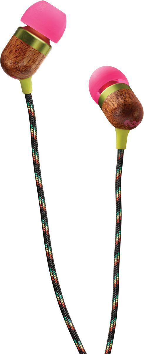 House of Marley Smile Jamaica, Lilly наушникиEM-JE040-LIСтильные, компактные и удобные в эксплуатации наушники получили свое название в честь одноименной песни Bob Marley Smile Jamaica. В продукции Marley используются эко-материалы, что положительно влияет на экологию планеты. Вакуумные амбушюры обеспечат высокую шумоизоляцию, в комплекте на выбор предоставляется 2 размера амбушюр. Кабель в тканевой оплетке предотвратит изломы и спутывание. Яркие наушники не оставят равнодушными ценителей качества и в то же время дизайнерских решений.