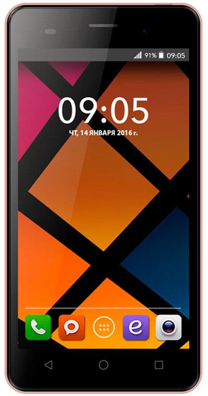 BQ 5020 Strike, Rose Gold46610226Смартфон BQ Strike - это передовые технологии, заключенные в стильном и прочном металлическом корпусе. Полный набор всех необходимых современному пользователю функций обеспечивает максимальный комфорт использования. Качественный 5-дюймовый IPS-дисплей c разрешением 1280х720 удивляет насыщенным, ярким изображением и безошибочной передачей цвета. Мощный 4-ядерный процессор MediaTek MT6580 с частотой 1.3 ГГц обеспечивает стабильно быструю скорость работы при использовании новейших приложений и игр. Основная камера с разрешением матрицы - 13 Мпикс позволяет делать потрясающие снимки в высоком качестве. Фронтальная камера с разрешением 5 Мпикс отлично подходит не только для видеозвонков, но и для селфи. Наличие слотов для двух сим-карт позволяет экономить время и деньги, например, в путешествиях или при использовании разных провайдеров для звонков и интернет серфинга. Смартфон работает под управлением современной...