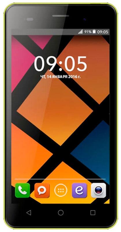 BQ 5020 Strike, Yellow46610260Смартфон BQ Strike - это передовые технологии, заключенные в стильном и прочном металлическом корпусе. Полный набор всех необходимых современному пользователю функций обеспечивает максимальный комфорт использования. Качественный 5-дюймовый IPS-дисплей c разрешением 1280х720 удивляет насыщенным, ярким изображением и безошибочной передачей цвета. Мощный 4-ядерный процессор MediaTek MT6580 с частотой 1.3 ГГц обеспечивает стабильно быструю скорость работы при использовании новейших приложений и игр. Основная камера с разрешением матрицы - 13 Мпикс позволяет делать потрясающие снимки в высоком качестве. Фронтальная камера с разрешением 5 Мпикс отлично подходит не только для видеозвонков, но и для селфи. Наличие слотов для двух сим-карт позволяет экономить время и деньги, например, в путешествиях или при использовании разных провайдеров для звонков и интернет серфинга. Смартфон работает под управлением современной...