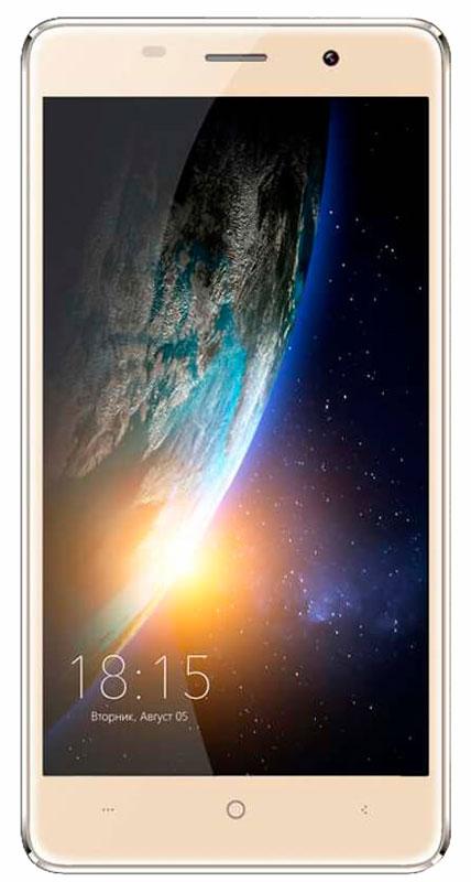 BQ 5022 Bond, Gold46612015Смартфон BQ 5022 Bond - это телефон, который можно не бояться уронить. Аппарат с 5-дюймовым IPS экраном оснащен защитным стеклом повышенной прочности, сделанному по технологии Military Bullet Proof. Благодаря встроенному сканеру отпечатков пальцев разблокировать экран BQ 5022 Bond можно одним прикосновением, при этом телефон остается надежно защищенным от несанкционированного проникновения. Батарея емкостью 2300 мАч позволит вам оставаться на связи в течении длительного времени без мыслей о подзарядке. Дисплей смартфона с HD разрешением 720х1280 воспроизводит фото и видеофайлы в формате высокой четкости, удивляя яркостью и цветопередачей изображения. Смартфон сертифицирован EAC и имеет русифицированный интерфейс меню и Руководство пользователя