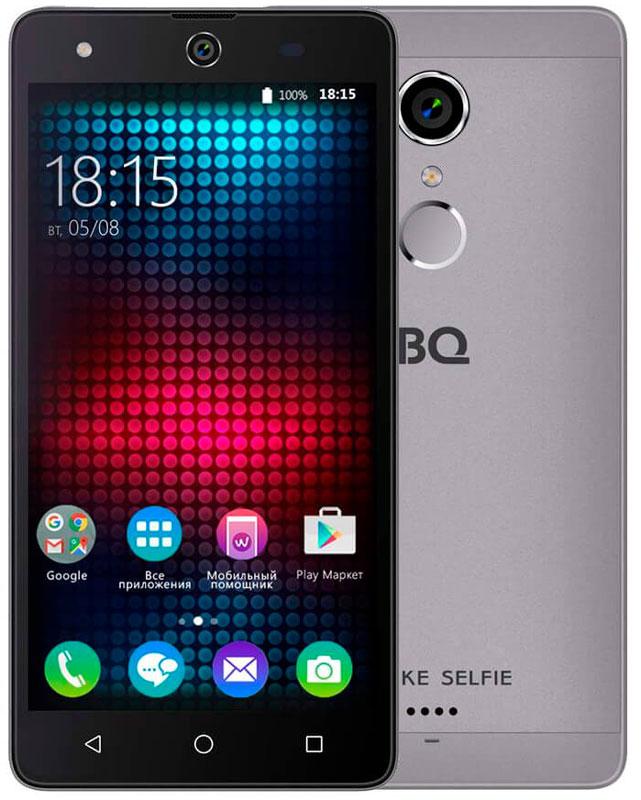 BQ 5050 Strike Selfie, Gray46611277Главная особенность BQ 5050 Strike Selfie - 13-мегапиксельная фронтальная камера со вспышкой и автофокусом, предназначенная для создания умопомрачительного качества селфи-фотографий, что, несомненно, порадует всех любителей селфи. Кроме этого смартфон работает на базе современной операционной системы Android 6.0. Благодаря работе этой версии ОС смартфон BQS-5050 Strike Selfie справляется с мультизадачными приложениями намного быстрее своих конкурентов. Устройство оснащено современным четырехъядерным процессором MediaTek MT6580. Он без труда справится с самыми сложными задачами, легко откроет тяжелые игры и ресурсоёмкие приложения. Общение в социальных сетях и мессенджерах, серфинг любимых развлекательных сайтов с BS 5050 Strike Selfie будет только в радость. Оперативная память составляет 1 ГБ, встроенная память для хранения любимых фильмов, формата HD, игр, книг и фотографий - 8 ГБ. Кроме этого память устройства можно расширить до 64 ГБ с...