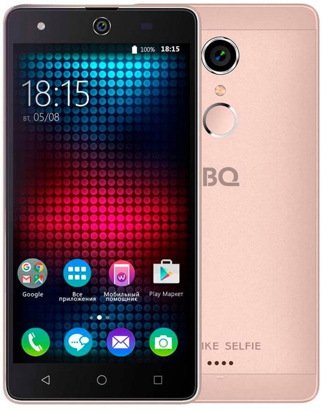 BQ 5050 Strike Selfie, Rose Gold46611278Главная особенность BQ 5050 Strike Selfie - 13-мегапиксельная фронтальная камера со вспышкой и автофокусом, предназначенная для создания умопомрачительного качества селфи-фотографий, что, несомненно, порадует всех любителей селфи. Кроме этого смартфон работает на базе современной операционной системы Android 6.0. Благодаря работе этой версии ОС смартфон BQS-5050 Strike Selfie справляется с мультизадачными приложениями намного быстрее своих конкурентов. Устройство оснащено современным четырехъядерным процессором MediaTek MT6580. Он без труда справится с самыми сложными задачами, легко откроет тяжелые игры и ресурсоёмкие приложения. Общение в социальных сетях и мессенджерах, серфинг любимых развлекательных сайтов с BS 5050 Strike Selfie будет только в радость. Оперативная память составляет 1 ГБ, встроенная память для хранения любимых фильмов, формата HD, игр, книг и фотографий - 8 ГБ. Кроме этого память устройства можно расширить до 64 ГБ с...