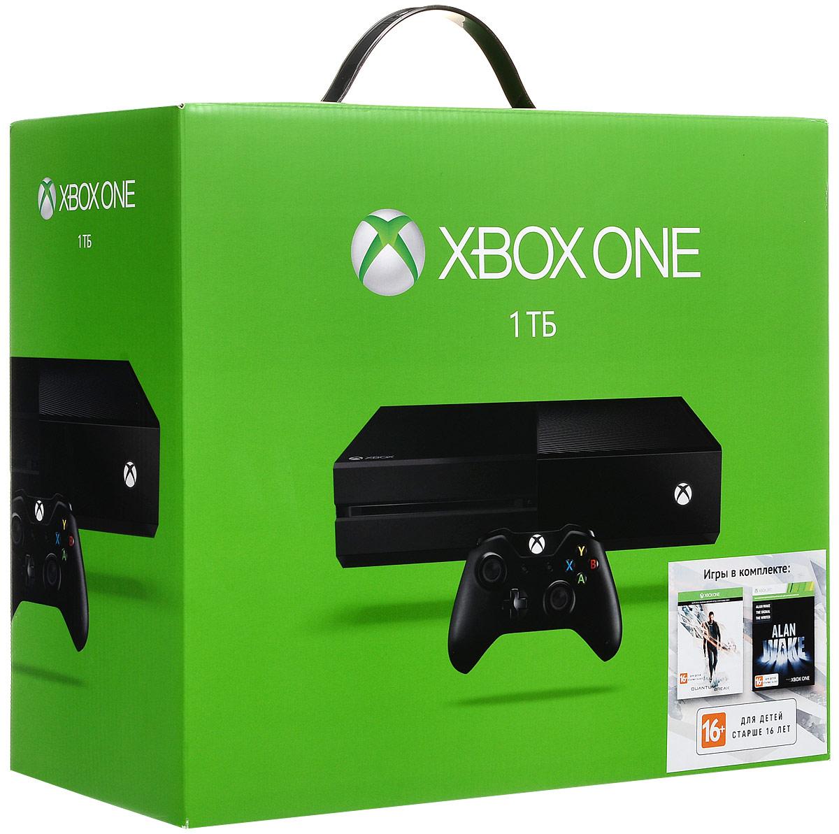 Игровая приставка Xbox One 1 TB + Quantum Break + Alan Wake
