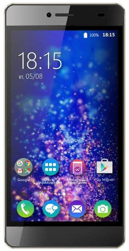 BQ 5070 Magic LTE, Brown46611747За тонким корпусом BQ 5070 Magic LTE спрятан производительный четырехъядерный процессор, 13-мегапиксельная камера и HD-дисплей с разрешением 1280 х 720 точек. Также устройство поддерживает современную технологию LTE. Четырехъядерный процессор с тактовой частотой 1,25 ГГц и 2 ГБ оперативной памяти позволяют смартфону эффективно отвечать на пользовательские запросы и успешно справляться с поставленными задачами. Смотрите любимые фильмы или фото на смартфоне BQ Magic. Яркий IPS-экран с диагональю 5 дюймов и HD разрешением, удивляет насыщенными красками и четкостью изображения. Для хранения данных пользователю выделено 16 ГБ встроенной памяти, которую можно при необходимости расширить с помощью Micro SD карты до 128 ГБ. Данный объем памяти дает ощутимое быстродействие работы в любом приложении. Данная модель получила две камеры: 13 Мпикс основную и 5 Мпикс фронтальную для селфи. Обе камеры создают снимки высокого качества, но не менее важно...