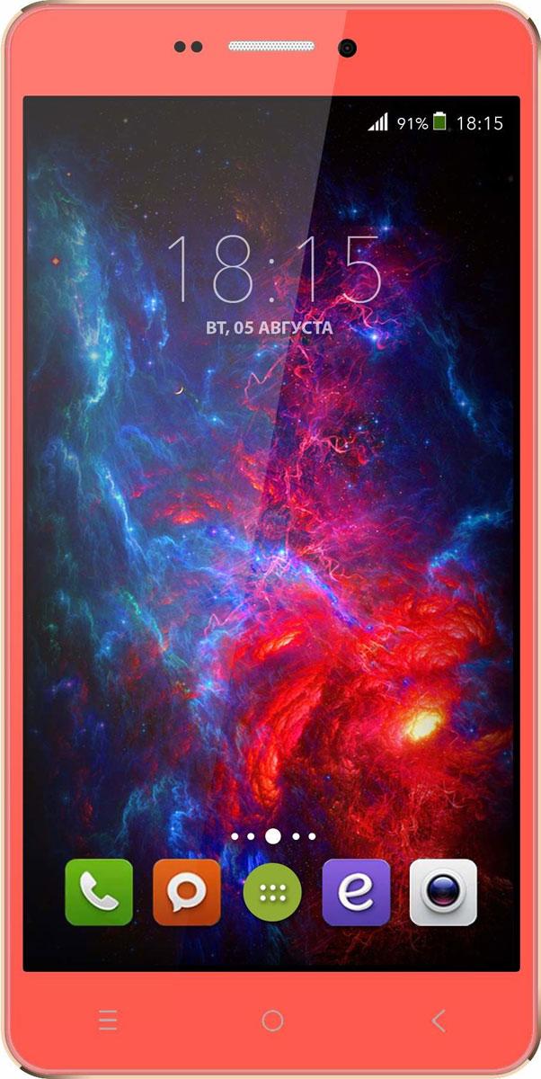 BQ 5515 Wide LTE, Strawberry Red46610728BQ 5515 Wide LTE с 5,5 HD IPS дисплеем c разрешением 1280 на 720 точек совмещает в себе функции высокопроизводительного смартфона и планшета, поэтому станет незаменимым помощником не только в развлечениях, общении, серфинге, но и в учебе. Данная модель оснащена 4-х ядерным процессором MTK6735 LTE, который обладает широкими возможностями по работе с мультимедийными данными. Процессор разработан специально под современные тенденции в развитии виртуальной реальности с улучшенной графической составляющей, повышенной производительностью и оптимизированным энергопотреблением. BQS 5515 Wide работает под управлением современной версии ОС Android 5.1, обеспечивающей быстродействие всей системы. Поддержка смартфоном 4G LTE превратит использование мобильных приложений в бесконечное удовольствие. А чтобы его продлить, в устройство встроены современные функции по экономии энергопотребления в сочетании с ёмким аккумулятором 2800 мАч, которые обеспечивают длительную автономную...