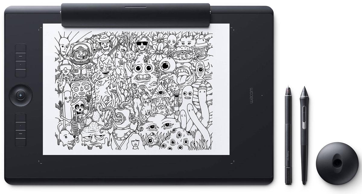 Wacom Intuos Pro Large Paper графический планшет (PTH-860P-R)4949268620628Wacom Intuos Pro Large Paper - это сочетание современных технологий и рисования на выбранной вами бумаге. Это новый, но и такой знакомый способ работы. Пока вы будете наслаждаться рисованием ручкой Finetip Pen по бумаге, планшет Wacom Intuos Pro Large Paper запомнит каждый ваш штрих, чтобы в дальнейшем вы могли его доработать в любимой программе. Или сразу подключите Wacom Intuos Pro Large Paper к компьютеру и работайте новейшим цифровым пером Wacom Pro Pen 2 в графическом приложении. Корпус Wacom Intuos Pro Large Paper сделан из высококачественных первоклассных материалов: черного анодированного алюминия и стекловолокнистого композитного пластика. Несмотря на толщину всего 8 мм, планшет на ощупь надежный и прочный. В комплект Wacom Intuos Pro Large Paper включена подставка для пера со стальным основанием, предназначенная для хранения запасных наконечников. А еще в нее встроен удобный инструмент для замены наконечников. Настраиваемые...