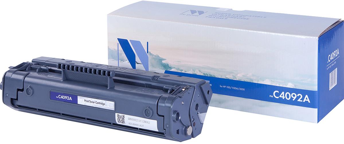 NV Print NV-C4092A, Black тонер-картридж для HP LaserJet 1100/1100A/3200NV-C4092AСовместимый лазерный картридж NV Print NV-C4092A для печатающих устройств HP - это альтернатива приобретению оригинальных расходных материалов. При этом качество печати остается высоким. Картридж обеспечивает повышенную чёткость чёрного текста и плавность переходов оттенков серого цвета и полутонов, позволяет отображать мельчайшие детали изображения. Лазерные принтеры, копировальные аппараты и МФУ являются более выгодными в печати, чем струйные устройства, так как лазерных картриджей хватает на значительно большее количество отпечатков, чем обычных. Для печати в данном случае используются не чернила, а тонер.