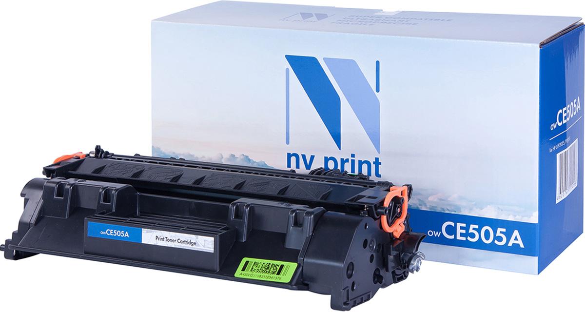 NV Print NV-CE505A, Black тонер-картридж для HP LaserJet P2035/P2055NV-CE505AСовместимый лазерный картридж NV Print CE505A для печатающих устройств HP - это альтернатива приобретению оригинальных расходных материалов. При этом качество печати остается высоким. Картридж обеспечивает повышенную чёткость чёрного текста и плавность переходов оттенков серого цвета и полутонов, позволяет отображать мельчайшие детали изображения. Лазерные принтеры, копировальные аппараты и МФУ являются более выгодными в печати, чем струйные устройства, так как лазерных картриджей хватает на значительно большее количество отпечатков, чем обычных. Для печати в данном случае используются не чернила, а тонер.