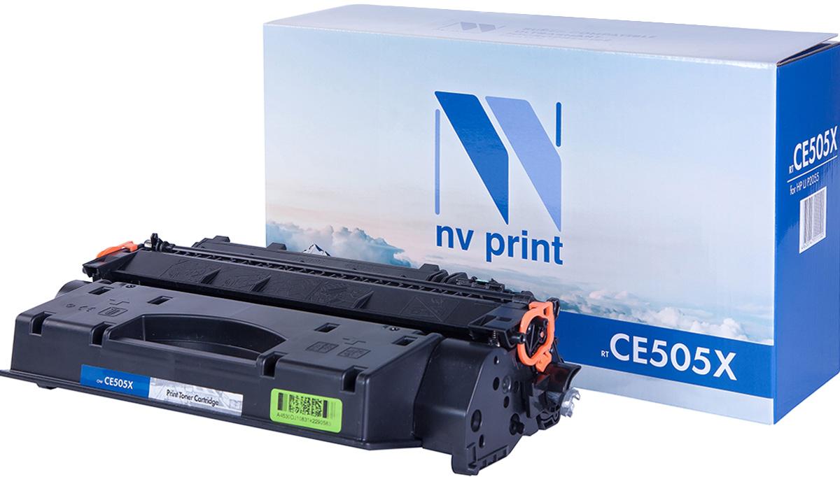 NV Print NV-CE505X, Black тонер-картридж для HP LaserJet P2055NV-CE505XСовместимый лазерный картридж NV Print NV-CE505X для печатающих устройств HP - это альтернатива приобретению оригинальных расходных материалов. При этом качество печати остается высоким. Картридж обеспечивает повышенную чёткость чёрного текста и плавность переходов оттенков серого цвета и полутонов, позволяет отображать мельчайшие детали изображения. Лазерные принтеры, копировальные аппараты и МФУ являются более выгодными в печати, чем струйные устройства, так как лазерных картриджей хватает на значительно большее количество отпечатков, чем обычных. Для печати в данном случае используются не чернила, а тонер.