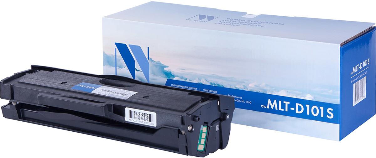NV Print NV-MLTD101S, Black тонер-картридж для Samsung ML-2160/2165/2165W/2167/2168W/SCX-3400/3405/3407NV-MLTD101SСовместимый лазерный картридж NV Print NV-MLTD101S для печатающих устройств Samsung - это альтернатива приобретению оригинальных расходных материалов. При этом качество печати остается высоким. Картридж обеспечивает повышенную чёткость чёрного текста и плавность переходов оттенков серого цвета и полутонов, позволяет отображать мельчайшие детали изображения. Лазерные принтеры, копировальные аппараты и МФУ являются более выгодными в печати, чем струйные устройства, так как лазерных картриджей хватает на значительно большее количество отпечатков, чем обычных. Для печати в данном случае используются не чернила, а тонер.