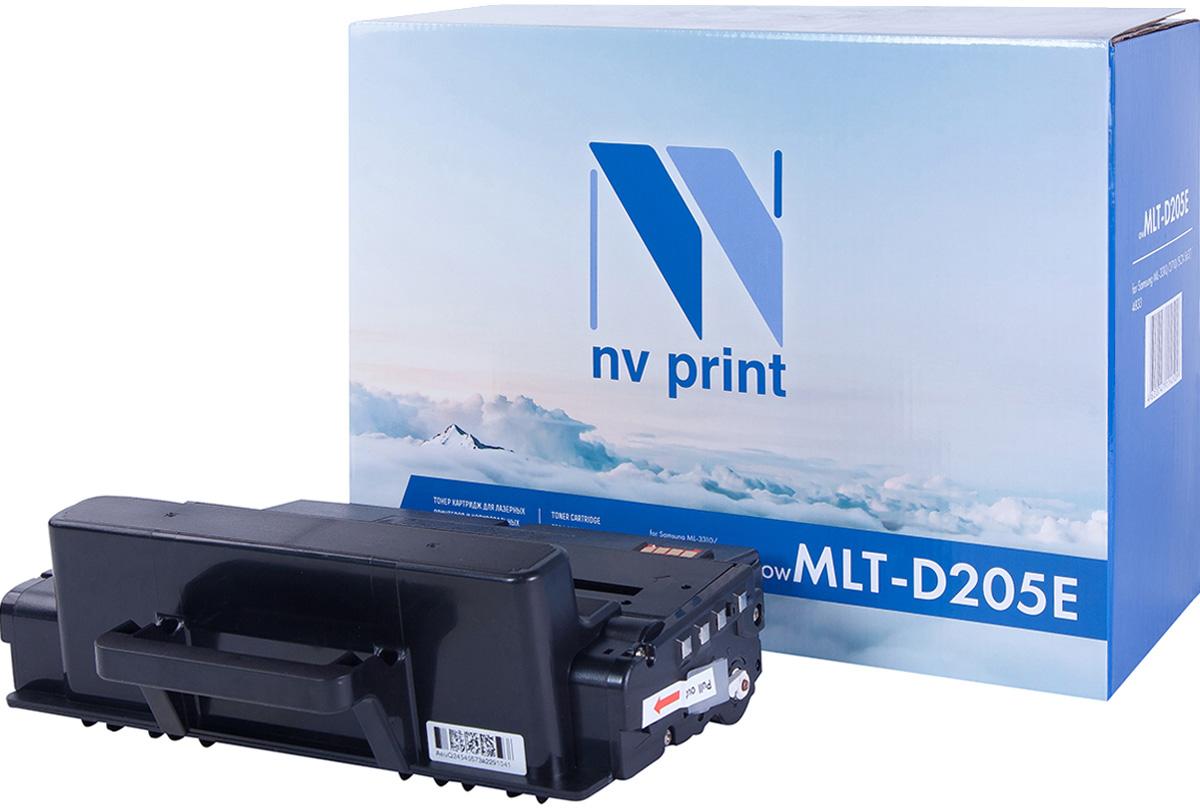 NV Print NV-MLTD205E, Black тонер-картридж для Samsung ML-3310/ML-3710/SCX-4833/SCX-5637NV-MLTD205EСовместимый лазерный картридж NV Print NV-MLTD205E для печатающих устройств Samsung - это альтернатива приобретению оригинальных расходных материалов. При этом качество печати остается высоким. Картридж обеспечивает повышенную чёткость чёрного текста и плавность переходов оттенков серого цвета и полутонов, позволяет отображать мельчайшие детали изображения. Лазерные принтеры, копировальные аппараты и МФУ являются более выгодными в печати, чем струйные устройства, так как лазерных картриджей хватает на значительно большее количество отпечатков, чем обычных. Для печати в данном случае используются не чернила, а тонер.
