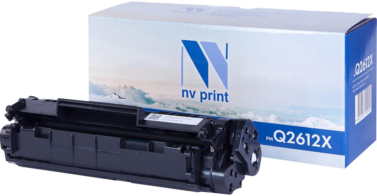NV Print NV-Q2612X, Black тонер-картридж для HP LaserJet 1005/1006/1010/1012/1015/1020/1319MFP/3015/3020/3030NV-Q2612XСовместимый лазерный картридж NV Print NV-Q2612X для печатающих устройств HP - это альтернатива приобретению оригинальных расходных материалов. При этом качество печати остается высоким. Картридж обеспечивает повышенную чёткость чёрного текста и плавность переходов оттенков серого цвета и полутонов, позволяет отображать мельчайшие детали изображения. Лазерные принтеры, копировальные аппараты и МФУ являются более выгодными в печати, чем струйные устройства, так как лазерных картриджей хватает на значительно большее количество отпечатков, чем обычных. Для печати в данном случае используются не чернила, а тонер.