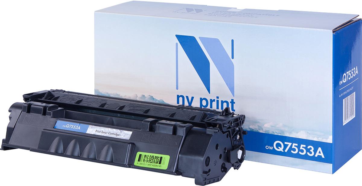 NV Print NV-Q7553A, Black тонер-картридж для HP LaserJet P2014/P2015/M2727NV-Q7553AСовместимый лазерный картридж NV Print NV-Q7553A для печатающих устройств HP LaserJet - это альтернатива приобретению оригинальных расходных материалов. При этом качество печати остается высоким. Картридж обеспечивает повышенную чёткость чёрного текста и плавность переходов оттенков серого цвета и полутонов, позволяет отображать мельчайшие детали изображения. Лазерные принтеры, копировальные аппараты и МФУ являются более выгодными в печати, чем струйные устройства, так как лазерных картриджей хватает на значительно большее количество отпечатков, чем обычных. Для печати в данном случае используются не чернила, а тонер.